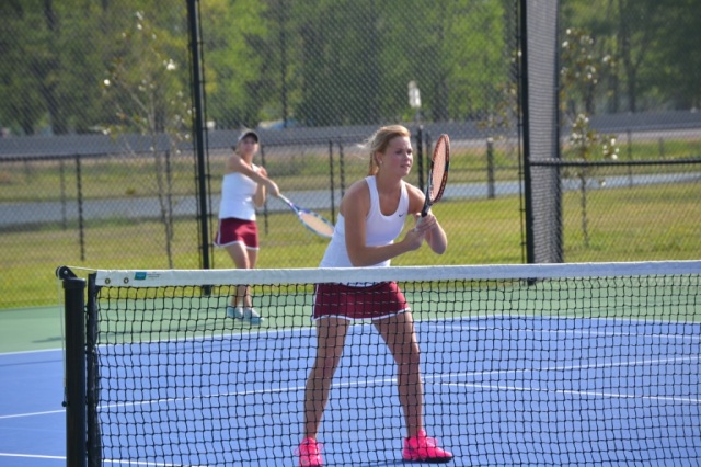 Katie Davis and Meghan Van won in girls doubles 6-3, 6-1. Photo by Dennis Clayton.