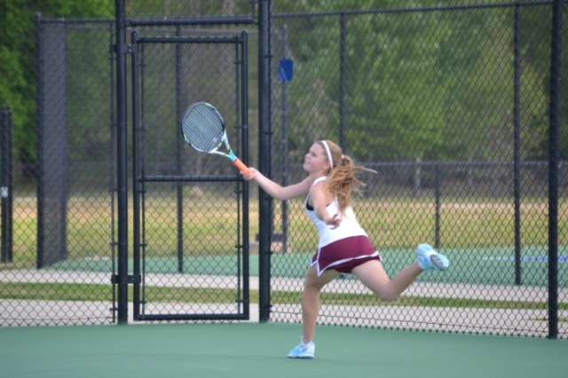 Morris Kelly Clayton won in girls singles play. Photo by Dennis Clayton.