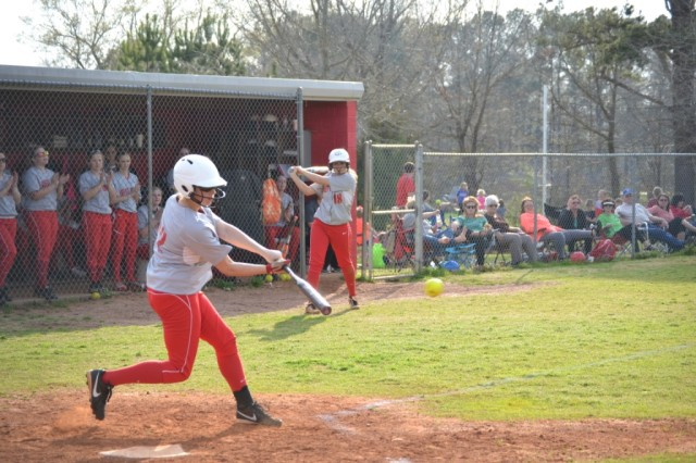 Julianna Garner went four for four against Ingomar. Photo by Dennis Clayton.
