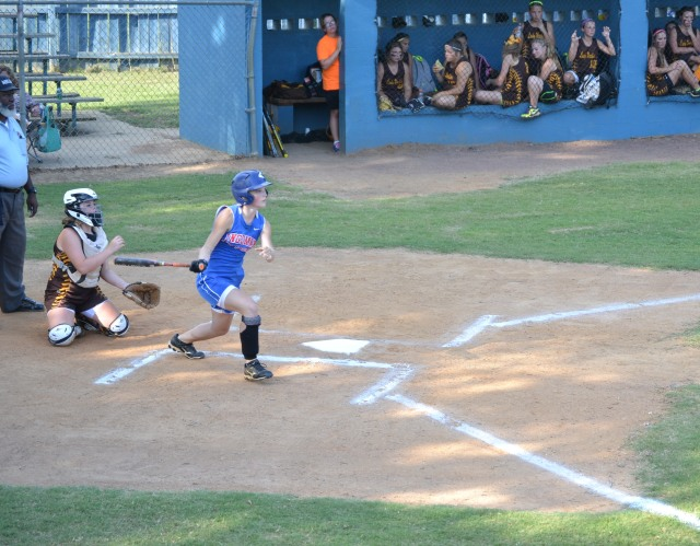 Maggie Smithey went 4-4 and scored three runs on Thursday. Photo by Dennis Clayton.