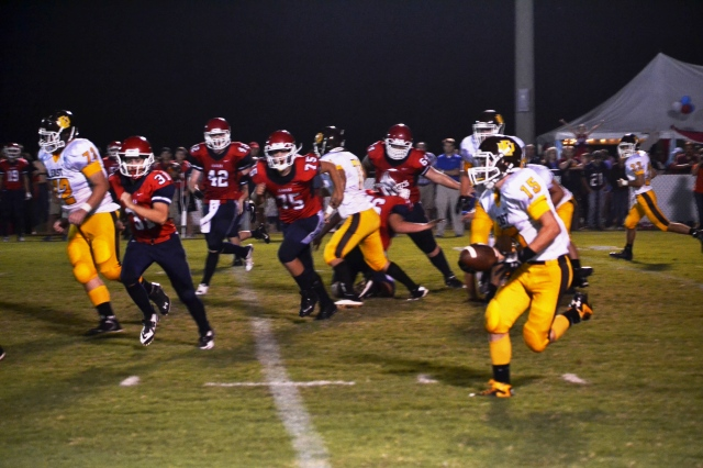 Jamie McCullough rushed for 177 yards on Friday against TCPS. Photo by Dennis Clayton.