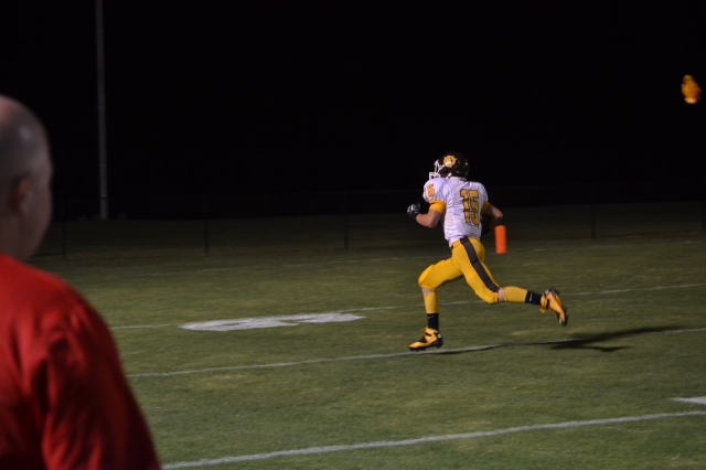 Jamie McCullough torched the TCPS defense for 177 yards and two touchdowns. Photo by Dennis Clayton.