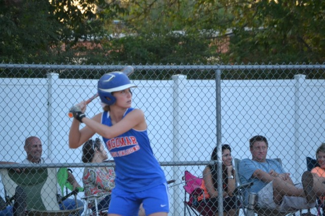 Erin Wall was 4 for 4 with a double and two RBIs on Tuesday. Photo by Dennis Clayton.