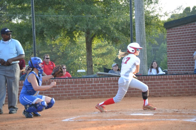 Callie Baggett had two hits for West Union on Tuesday. Photo by Dennis Clayton.