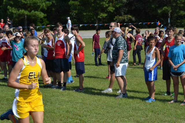 Sarah Duley of East Union placed 10th in the 1-3A girls with a time of 22:02.80. Photo by Dennis Clayton.