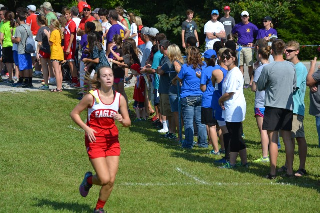 Savannah Shirley of West Union finished 15th with her time of 22:33.71. Photo by Dennis Clayton.