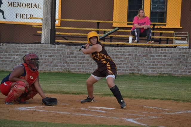 Sallie Pannell had seven hits in East Union's doubleheader win over Strayhorn. Photo by Dennis Clayton.