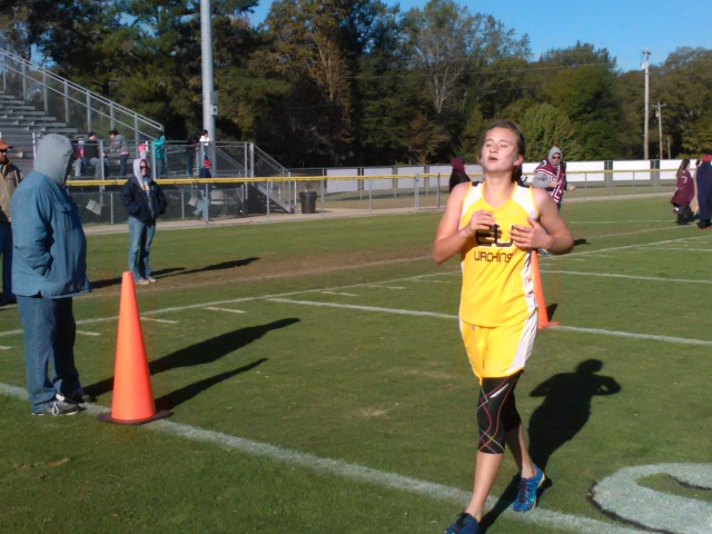 Sarah Duley finished second in the girls 1-2A Regionals on Saturday with a time of 20:25.00. Photo submitted by Shone Nobles.