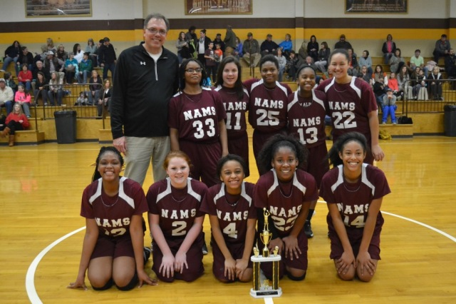 New Albany Girls are the 2015 Union County Junior High Tournament Champions. Photo by Dennis Clayton.