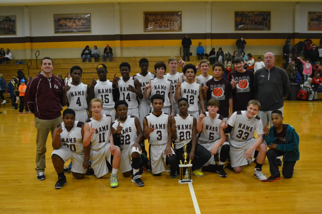 New Albany Bulldogs are the 2015 Union County Junior High Tournament Champions. Photo by Dennis Clayton.