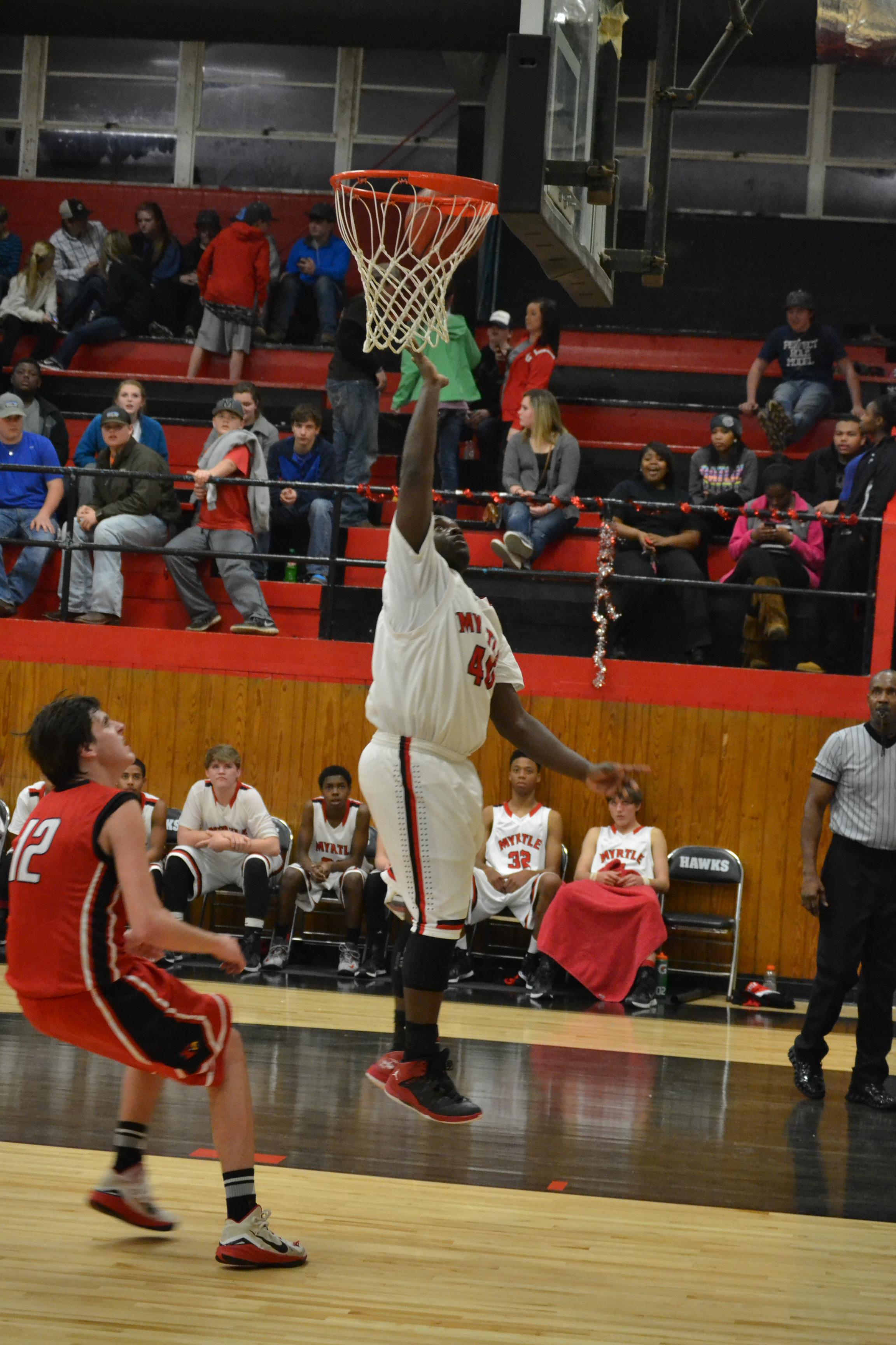 Anthony Lipsey scores on this layup during the third quarter. Photo By Dennis Clayton.