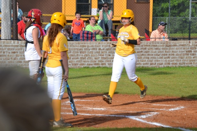 Rebecca Sheffield drove in five runs on three hits and scored three in game two. Photo by Dennis Clayton.