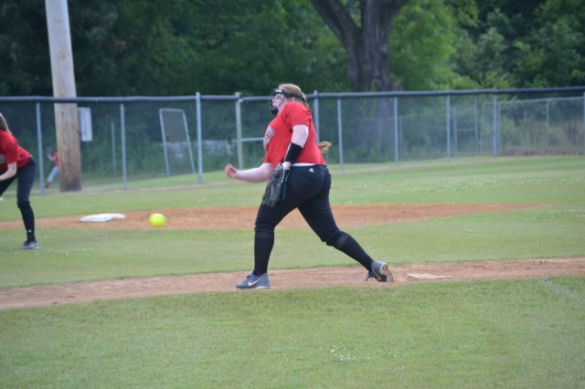 Sara McDonald returned to the mound after sitting out a year. It was great to see Sara back on the softball diamond.