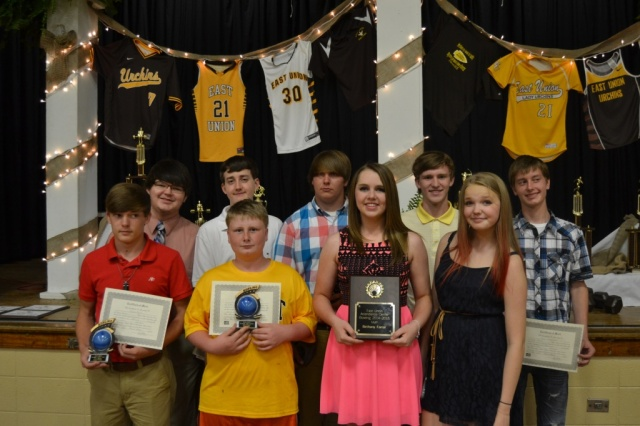 Bowling from left: Chance Betts, Cody Baker, Dillon Crumpton, Bo Nobles, Bailey Spruill, Bethany Farrar, Larry Robbins, Haylie Hatfield, Zac Cisowski.