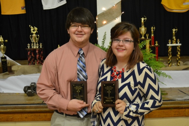 Danny Henderson Memorial Award: Cody Baker, Mallery Ellis.