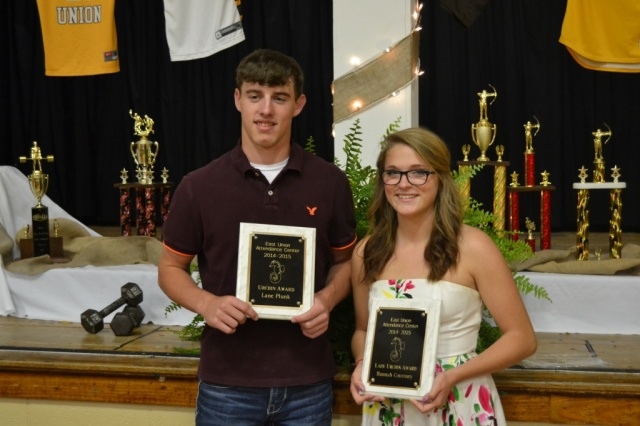 Urchin Award: Lane Plunk, Hannah Courtney.