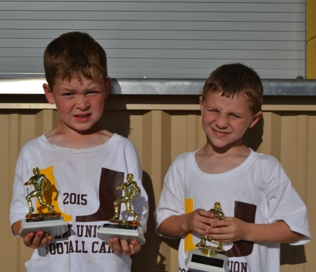 Kade Treadaway – punt, pass and kick champ and good hands award, Will Swanson – skills champ for first and second grade group.