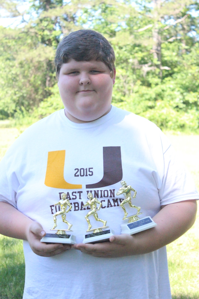 Taylor McDonald – Good hands award, skills champ, punt, pass and kick champ for seventh and eighth grade group.