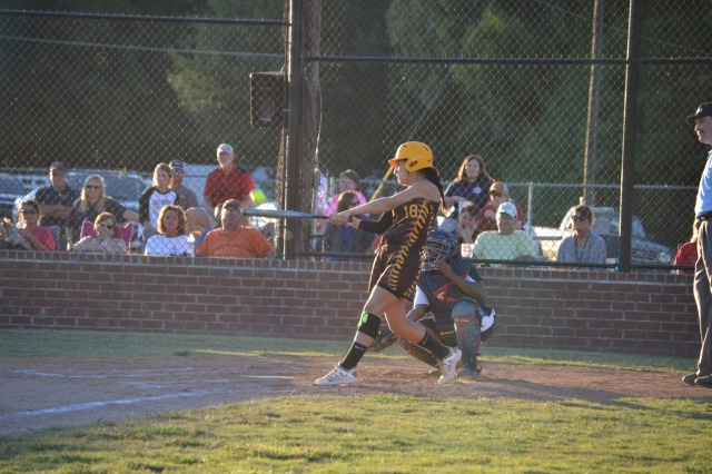 Tianna Castillo follows with a solo homer to left. Photo by Dennis Clayton.