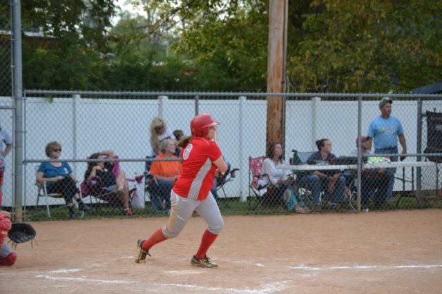 Chase Coffey had three RBIs for the Lady Eagles on Thursday. Photo by Dennis Clayton.