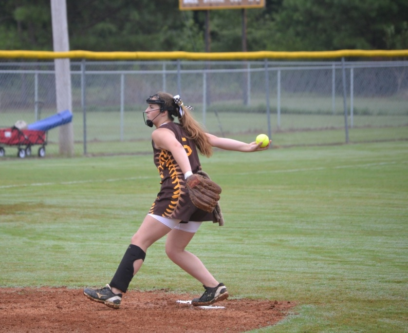Sallie Pannell hit a two-run homer and was the winning pitcher for both games. Pannell did not issue any walks in either game. File photo.