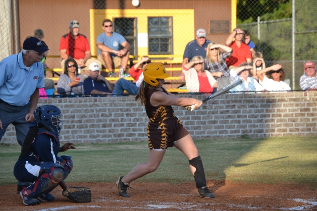 Sallie Pannell hit three home runs including a grand slam against Mooreville. File photo.