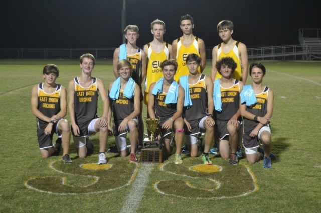 East Union boys took first place in the 2015 Union County XC Meet on Thursday at East Union. Photo by Dennis Clayton.